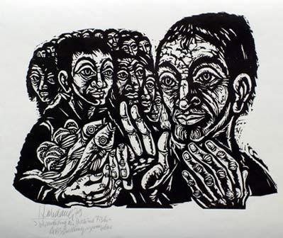 'Vermehrung der Brote und Fische', 1979 - Walter Habdank. © Galerie Habdank