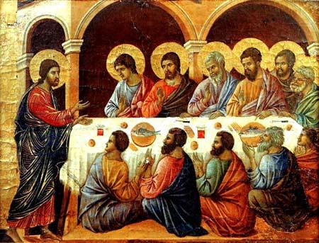'Das Heilige Abendmahl', 1308, Duccio