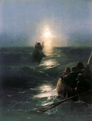 'Jesus geht auf Wasser', Iwan Aiwasowskij, 1888