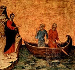'Duccio di Buoninsegna', Berufung der Apostel Petrus und Andreas, 14. Jhd