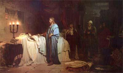 'Ilja Jefimowitsch Repin', Auferweckung der Tochter des Jairus, 1871
