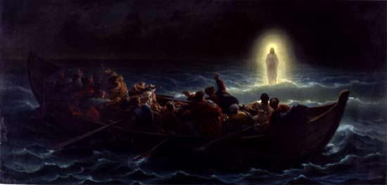 'Der Seewandel Jesu', Charles-François Jalabert, 19 Jhd