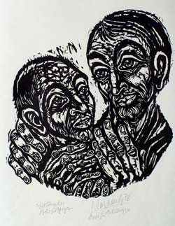 Heilung des Aussätzigen', 1988 - Walter Habdank. © Galerie Habdank