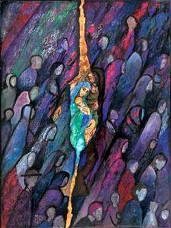 'O Heiland reiss die Himmel auf' - Beate Heinen, 1993. © ars liturgica Buch- & Kunstverlag, MARIA LAACH,