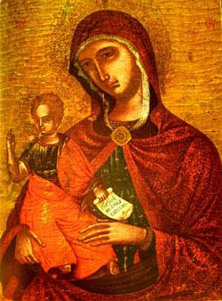 'Gottesmutter mit dem Kind', Italien, 16 Jhd., Ikonenmuseum Recklinghausen