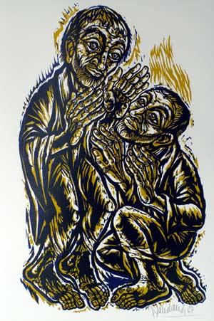 'Petrus begegnet dem Auferstandenen', 1984 - Walter Habdank. © Galerie Habdank