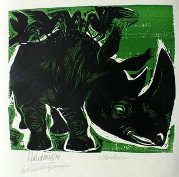 'Nashorn', 1974 - Walter Habdank. © Galerie Habdank