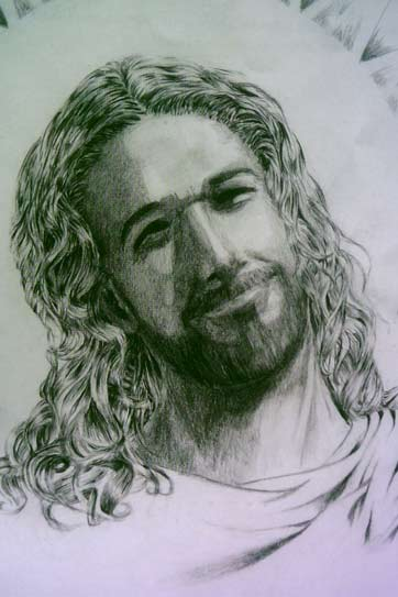 'Jesus Smiling At His Father' - Heather M Taiwo, California, USA (Jesus - Kalifornien, USA)