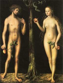 'Adam und Eva' von Lucas Cranach, um 1513