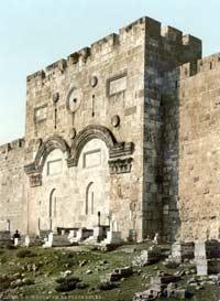 Jerusalem: Goldenes Tor um 1900, (public domain)