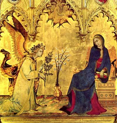 'Maria Verkündigung' - Simone Martini, 1333 (Linzenzfrei, Yorck Project)