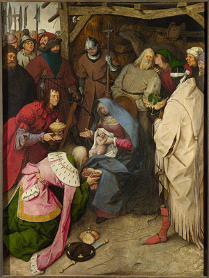 'Die Anbetung der Könige ', 1564, Pieter Bruegel the Elder