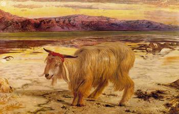'Scapegoat', Holman Hunt. Scan by Mark Harden, http://artchive.com/ftp_site.htm. (Der Sündenbock)
