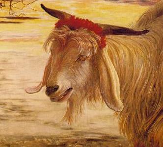 Ausschnitt aus 'Scapegoat', Holman Hunt, 1854