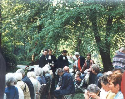 Erster Himmelfahrtsgottesdienst am Jakobiweiher im Stadtwald, 1993