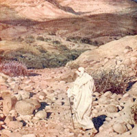 Temptation of Jesus in desert, William Hole: The Life of Jesus of Nazareth. Eighty Pictures.