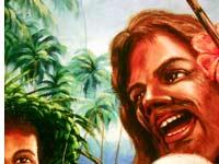 Jesus als Fischer - Solomon Inseln