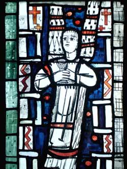 Engelsfenster von Charles Crodel in der alten Sakristei der Dreikönigskirche
