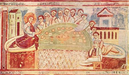 'Das Abendmahl', um 1100, Italo-Byzantinischer Meister