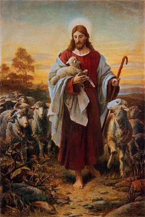 'Good Shephard', Bernhard Plockhorst (1825–1907)