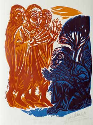 'Besuch der drei Männer bei Abraham', 1977 - Walter Habdank. © Galerie Habdank