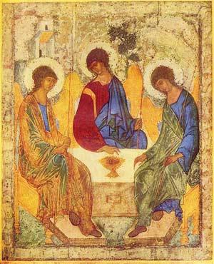 Angels at Mamre (Holy Trinity) Rublev
