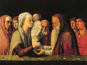 Darstellung Jesu im Tempel, ca. 1459, Giovanni Bellini, Galleria Querini Stampalia, Venedig.