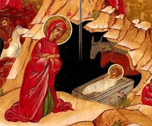 Geburt Jesu in einer Höhle, Ikone, Rumänien, 20 Jhd. Maler unbekannt. Quelle: Pschmep