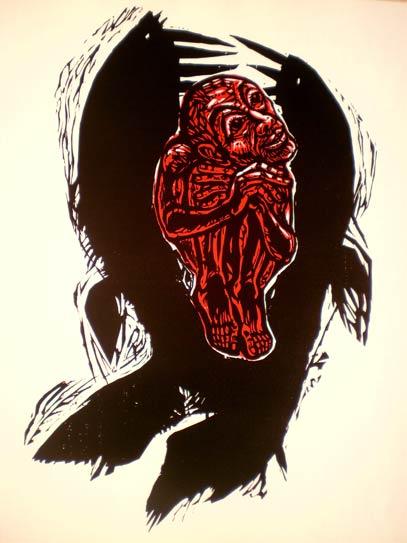 'Jona im Fischleib', 1972  - Walter Habdank. © Galerie Habdank