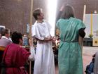 Jesus, Kleophas und Bartholomäus