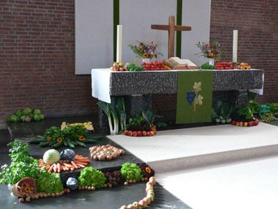 Familiengottesdienst zum Erntedankfest am 02. Oktober 2010 in der Bergkirche