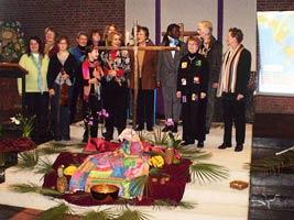 Vorbereitungsgruppe im Altarraum