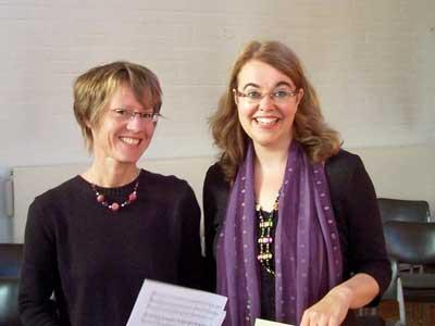 Christa Wolf-Kraske und Frau Dorothee Grebe-Zitzmann am 19.09.2010 im Kirchsaal Süd