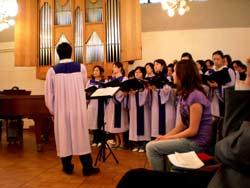 Der Chor der Sarangegemeinde