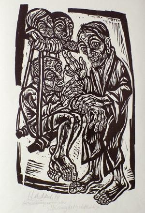 'Heilung des Gichtbrüchigen', 1978 - Walter Habdank. © Galerie Habdank