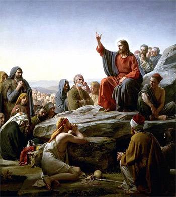 'Sermon On the Mount by w:Carl Heinrich Bloch, Danish painter, d. 1890