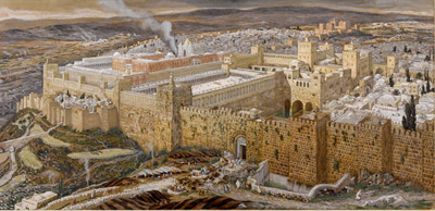 Jerusalem and the temple from the series The Life of Christ by James Tissot, Brooklyn Museum, 1894