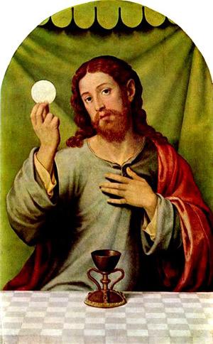 'Christus mit der Eucharistie', 3. Viertel 16. Jh., Juanes, Juan de