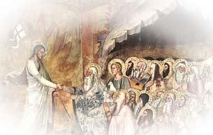 Ausschnitt aus Fresco 'Descent of Christ to Limbo'