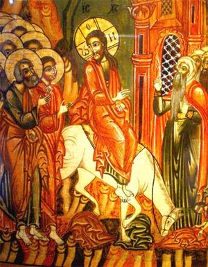 'Einzug Jesu in Jerusalem', Ikonenmuseum Frankfurt
