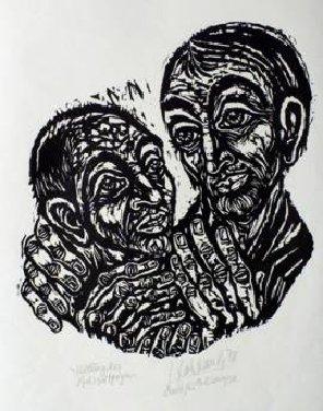 'Jesus heilt einen Aussätzigen' von Walter Habdank
