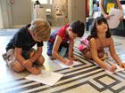 Kinderkunsttag: Verrückte Labyrinthe – Wer ist bei mir und zeigt mir den Weg? am 20. August 2011 in der Dreikönigskirche und im Liebighaus