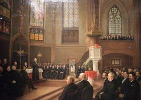 Gemälde von J.W. Rumpler anläßlich der Einweihung in der neuen Dreikönigskirche am 08.05.1881