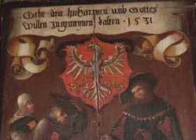 Bildtafel des Allgemeinen Almosenkastens aus dem Jahre 1531