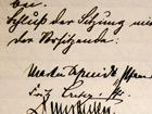 Protokollblatt der KV-Sitzung vom 1. Nov. 1934 - Unterschriften', 2011, PSch