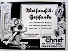 Werbung zur Weihnachtszeit - aus den 'Mitteilungen der Dreikoenigsgemeinde