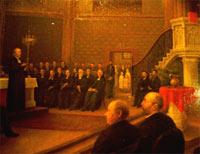 Einweihungsbild vom Einweihungsgottesdienst der jetzigen Dreikönigskirche am 8. Mai 1881