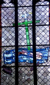 Baptism - East windows of Charles Crodel, Three Kings Church