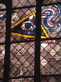 Dreieifaltigkeit - Ostfenster von Charles Crodel, Dreikönigskirche
