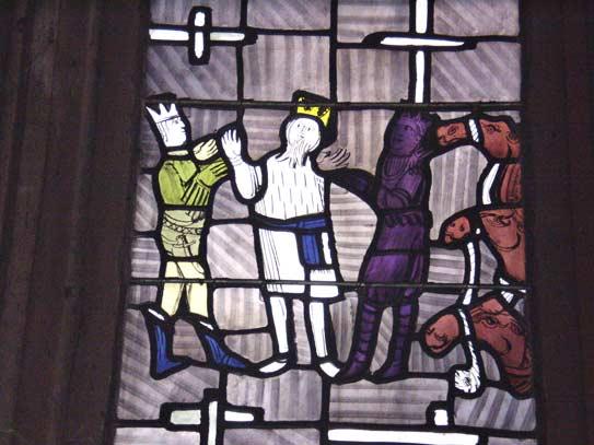 Wegkreuzung - Ausschnitt aus Nordfenster von Charles Crodel, Dreikönigskirche